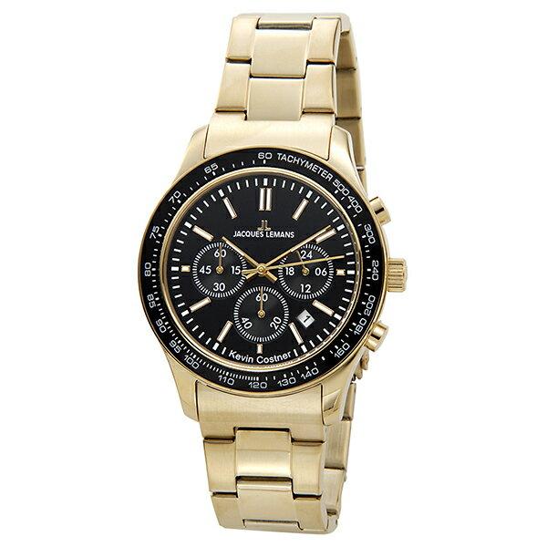 ジャックルマン ケビンコスナーモデル クオーツ クロノ メンズ 腕時計 時計 11-1586-9【_包装】 【ラッピング無料】