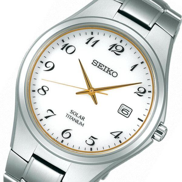 セイコー SEIKO スピリット ソーラー メンズ 腕時計 時計 SBPX075 ホワイト 国内正規【_包装】 【ラッピング無料】