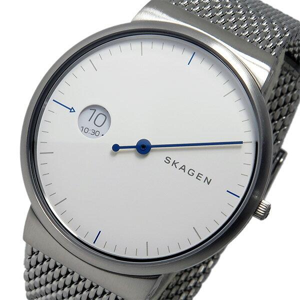 スカーゲン SKAGEN  クオーツ メンズ 腕時計 時計 SKW6193 ホワイト【_包装】 【ラッピング無料】