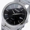 セイコー ソーラー ブラックダイアル クオーツ メンズ 腕時計 時計 SNE387P1 ブラック【楽ギフ_包装】