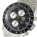 エルジン ELGIN クロノ クオーツ メンズ 腕時計 時計 FK1408S-BN ブラック【楽ギフ_包装】
