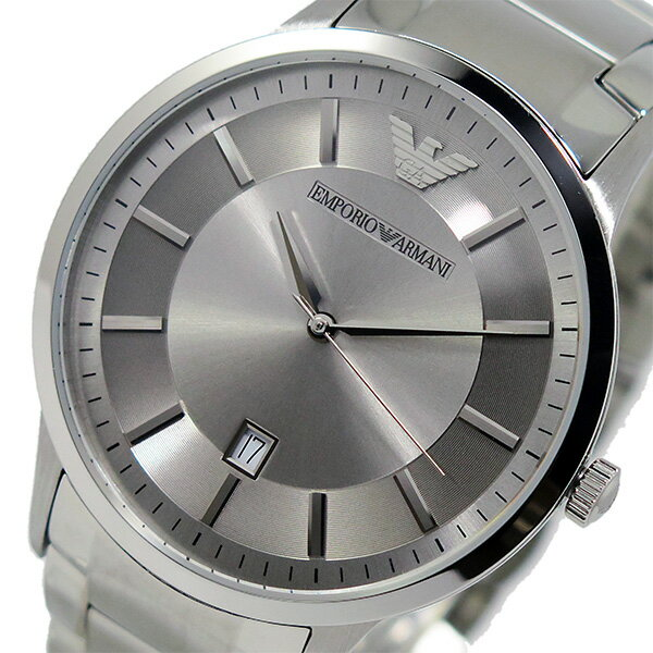 エンポリオ アルマーニ EMPORIO ARMANI クオーツ メンズ 腕時計 時計 AR2478 シルバー【_包装】 【ラッピング無料】