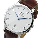 ダニエル ウェリントン ダッパー セントモース/シルバー 34mm 腕時計 時計 1140DW【楽ギフ_包装】