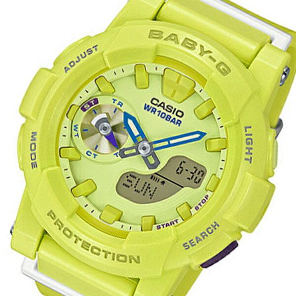 カシオ ベビーG フォーランニング クオーツ レディース 腕時計 時計 BGA-185-9A イエロー【_包装】 【ラッピング無料】