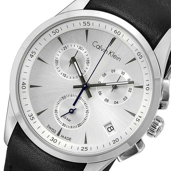 カルバンクライン Calvin Klein クロノ クオーツ メンズ 腕時計 時計 K5A271C6 シルバー【_包装】 【ラッピング無料】【最も手頃な価格】