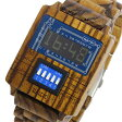 ディップクリック DIP CLICK mixer wood クオーツ 腕時計 時計 SW-WODS BL ブルー【楽ギフ_包装】