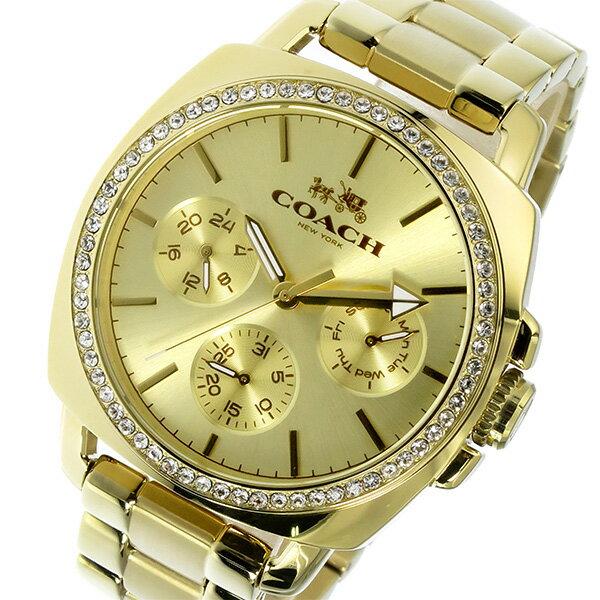 コーチ COACH ボーイフレンド Boyfriend クオーツ レディース 腕時計 時計 14502080 ゴールド【_包装】 【ラッピング無料】