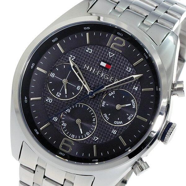 トミー ヒルフィガー TOMMY HILFIGER クオーツ メンズ 腕時計 時計 1791185 ブラック【_包装】 【ラッピング無料】