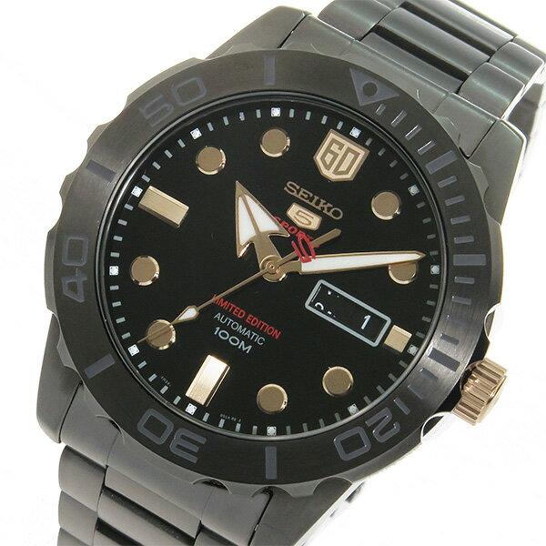 セイコー SEIKO セイコーファイブ スポーツ 60周年記念モデル 自動巻き メンズ 腕時計 時計 SRPA33K1 ブラック【_包装】 【ラッピング無料】