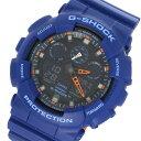カシオ CASIO Gショック G-SHOCK クオーツ メンズ 腕時計 時計 GA-100L-2A ブラック/ブルー【楽ギフ_包装】