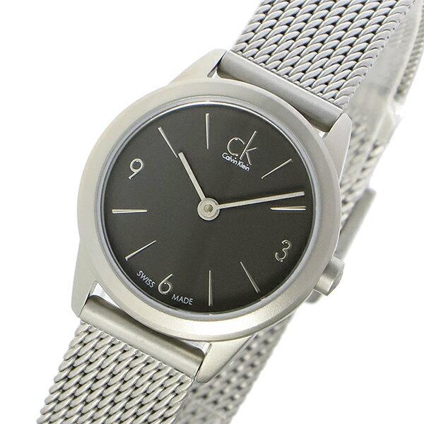 カルバンクライン Calvin Klein ミニマル MINIMAL クオーツ レディース 腕時計 時計 K3M53154 グレー【_包装】 【ラッピング無料】