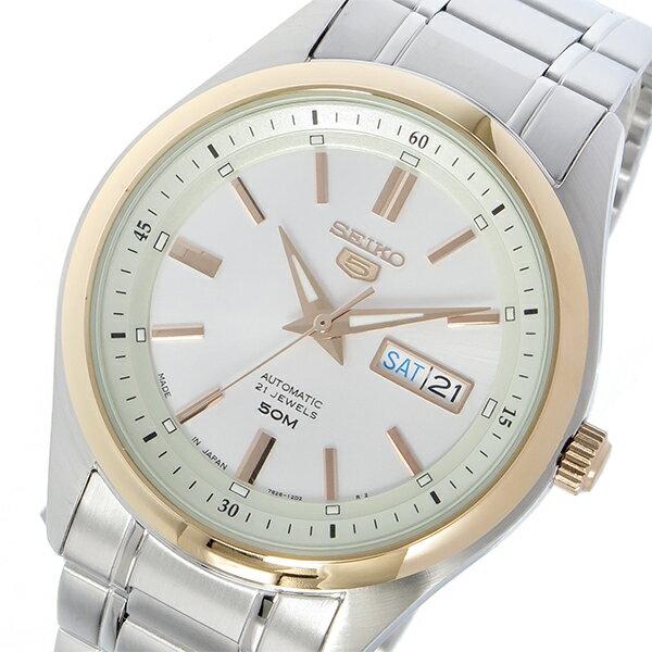 セイコー SEIKO セイコー5 自動巻き メンズ 腕時計 時計 SNKN90J ホワイトシルバー【_包装】 【ラッピング無料】