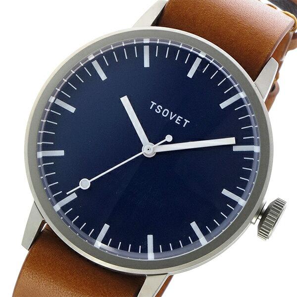 ソベット TSOVET SVT-SC38 クオーツ ユニセックス 腕時計 時計 SC112813-45 ネイビー【_包装】 【ラッピング無料】
