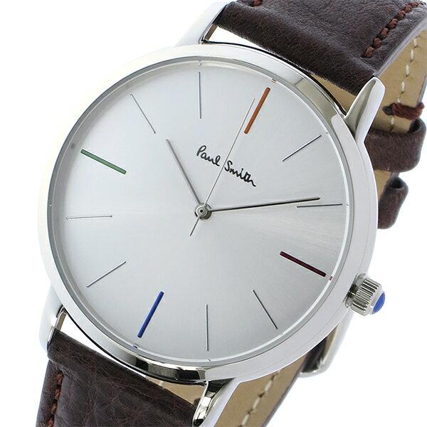 ポールスミス PAUL SMITH エムエー MA クオーツ メンズ 腕時計 時計 P10100 シルバー【_包装】 【ラッピング無料】田中ゆめの