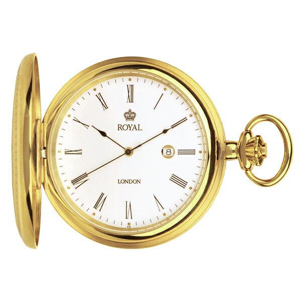 ロイヤル ロンドン ROYAL LONDON クオーツ 懐中時計 ポケットウォッチ 90001-02 ゴールド【楽ギフ_包装】