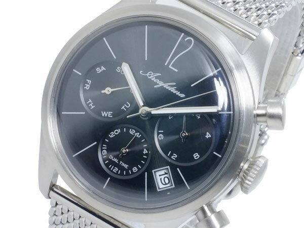 アルカ フトゥーラ ARCA FUTURA クオーツ メンズ デュアルタイム 腕時計 時計 866BK-M【_包装】【送料無料】 【送料無料】【ラッピング無料】