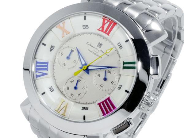 サルバトーレマーラ クオーツ メンズ クロノ 腕時計 時計 SM-14107-SSWHCL【_包装】【送料無料】 【送料無料】【ラッピング無料】