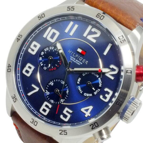 トミー ヒルフィガー TOMMY HILFIGER メンズ クオーツ 腕時計 時計 1791066 ネイビー【楽ギフ_包装】