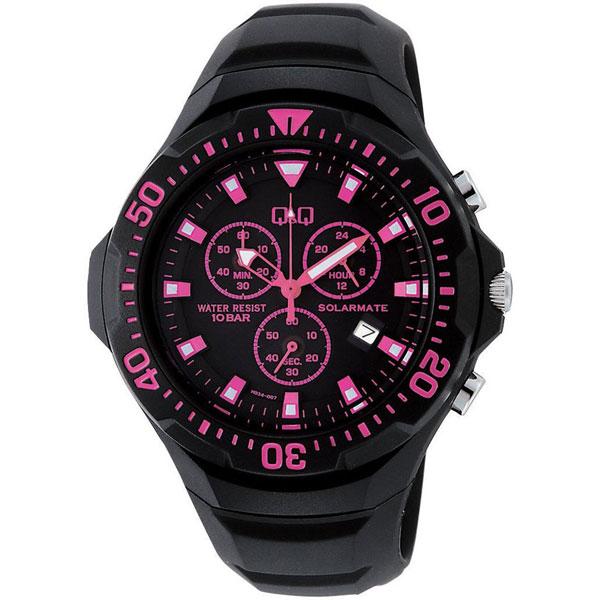 【CITIZEN】シチズン Q&Q ソーラー電源 メンズ腕時計H034-007 SOLARMATE (ソーラーメイト) /5点入り(き) ソーラー電源機能搭載クロノグラフ