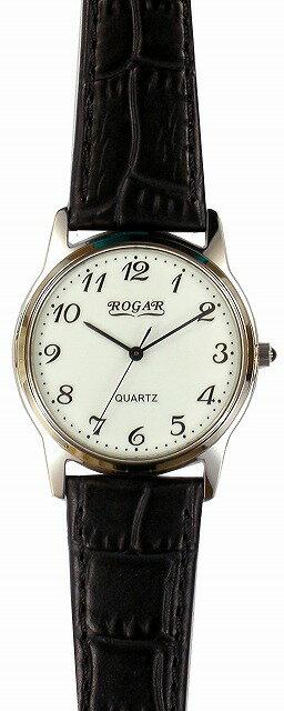 【ROGAR】ローガル メンズ腕時計 RO-055MB-S1 日常生活用防水(日本製) /10点入り(き) ROGAR ローガルは国内にて製造しております。【涼しい】