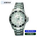 【AUREOLE】オレオール メンズ腕時計 SW-416M-3 アナログ表示 10年電池 20気圧防水 /1点入り(代引き不可)