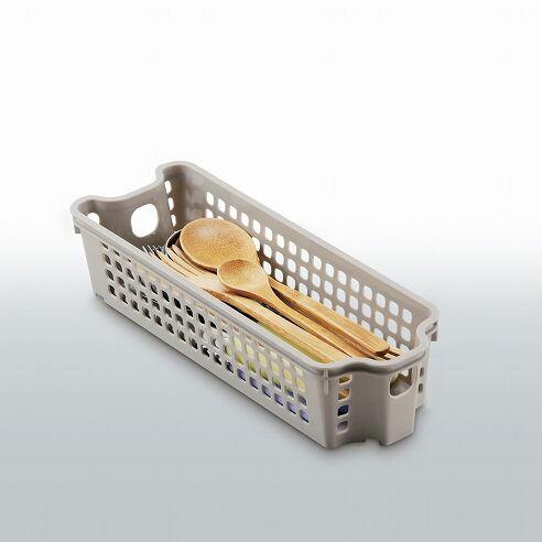 不動技研 スタックカーゴスリムミニ浅型 ベージュ F2528 (収納 ボックス 収納ケース カトラリーケース 箸)