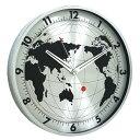 スパイス エッジウォールクロック グローブ EDGE WALL CLOCK GLOBE 30cm SILVER TELR1130SV(代引不可)【送料無料】