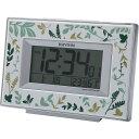 リズム 電波目覚まし時計 グリーン 室内装飾品 置き時計 目覚し重視時計 8RZ174SR05(代引不可)