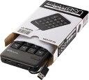 エレコム USBハブ付テンキーボード ブラック TKTCM012BKRS