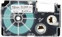 カシオ ラベルライター ネームランド テープ 12mm XR-12X-5P-E 透明5本 (XR-12X-5P-E)