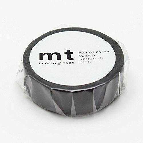 カモ井加工紙 マスキングテープ 1P マットブラック MT01P207