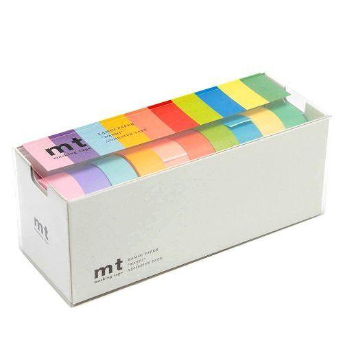 カモ井加工紙 マスキングテープ mt 10色セット 15mm幅×10m巻き