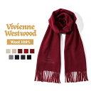 ショッピングWestwood Vivienne Westwood ヴィヴィアンウエストウッド マフラー シルバーロゴ 秋冬 新作 ストール ラッピング【送料無料】