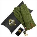 OROBIANCO オロビアンコ レディース手袋 ORL-1456 Leather glove 羊革 ウール KHAKI サイズ_7(20cm) プレゼント クリスマス【送料無料】