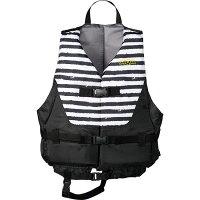 AQA(アクア) ライフジャケット KA9020 【カラー】ブラックボーダー×ブラック 【サイズ】Lの画像