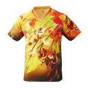 ニッタク(Nittaku) 卓球アパレル SKYLEAF SHIRT(スカイリーフシャツ ) 男女兼用 NW2180 【カラー】イエロー 【サイズ】3S(代引不可)