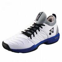 Yonex 【サイズ】26.0 テニスシューズ POWER CUSHION FUSIONREV3 MEN GC SHTF3MGC 【カラー】ホワイト×オーシャンブルーの画像