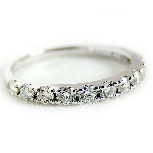 プラチナPT900 天然ダイヤモンドリング ダイヤ0.50ct 11.5号 Good H SI ハーフエタニティリング 優れた極上の輝きを放つダイヤモンドリングを実感して下さい☆