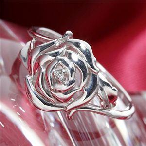 K10 ローズダイヤモンドリング 15号【S1】 美と愛が溢れる!K10ローズダイヤモンドリング