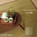 い草ラグカーペット 無地 『DX本草』 約200×200cm