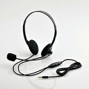 [ELECOM(エレコム)] タブレット用ヘッドセット(両耳小型オーバーヘッドタイプ) HS-HP22TBK(代引不可)