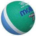 モルテン molten ライトドッジボール 軽量1号球 MSK緑+サックス SLD1MSK【S1】