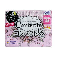 ソフィ センターイン コンパクト1/2 特に多い昼用 スリム ハネつき スイートフローラルの香り 16個入