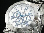 サルバトーレマーラ 腕時計 クロノグラフ メンズ SM8005-SSWH【楽ギフ_包装】