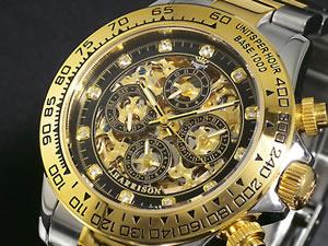 ジョンハリソン JHARRISON 腕時計 時計 JH003-GBK 石付き【_包装】