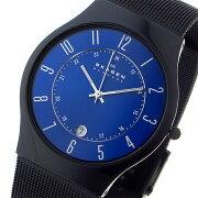 スカーゲン SKAGEN ウルトラスリム チタン メンズ 腕時計 時計 T233XLTMN ブルー【楽ギフ_包装】