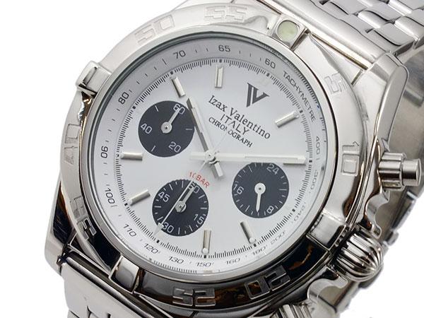 アイザック バレンチノ IZAX VALENTINO クオーツ メンズ クロノ 腕時計 時計-IVG-8000-4【_包装】