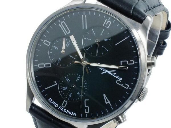 アルカ フトゥーラ ARCA FUTURA クオーツ メンズ 腕時計 時計 EC483BK ブラック【_包装】 【ラッピング無料】