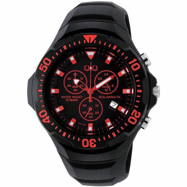 【CITIZEN】シチズン Q&Q ソーラー電源 メンズ腕時計H034-006 SOLARMATE (ソーラーメイト) /10点入り(き) ソーラー電源機能搭載クロノグラフ