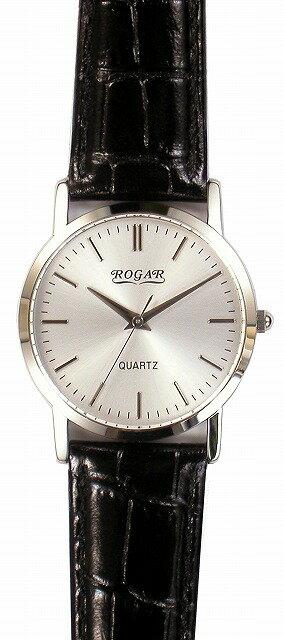 【ROGAR】ローガル メンズ腕時計 RO-060MB-B1 日常生活用防水(日本製) /10点入り(き) ROGAR ローガルは国内にて製造しております。